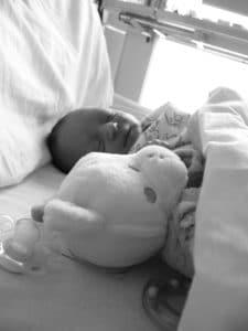 noire et blanc bébé nounours