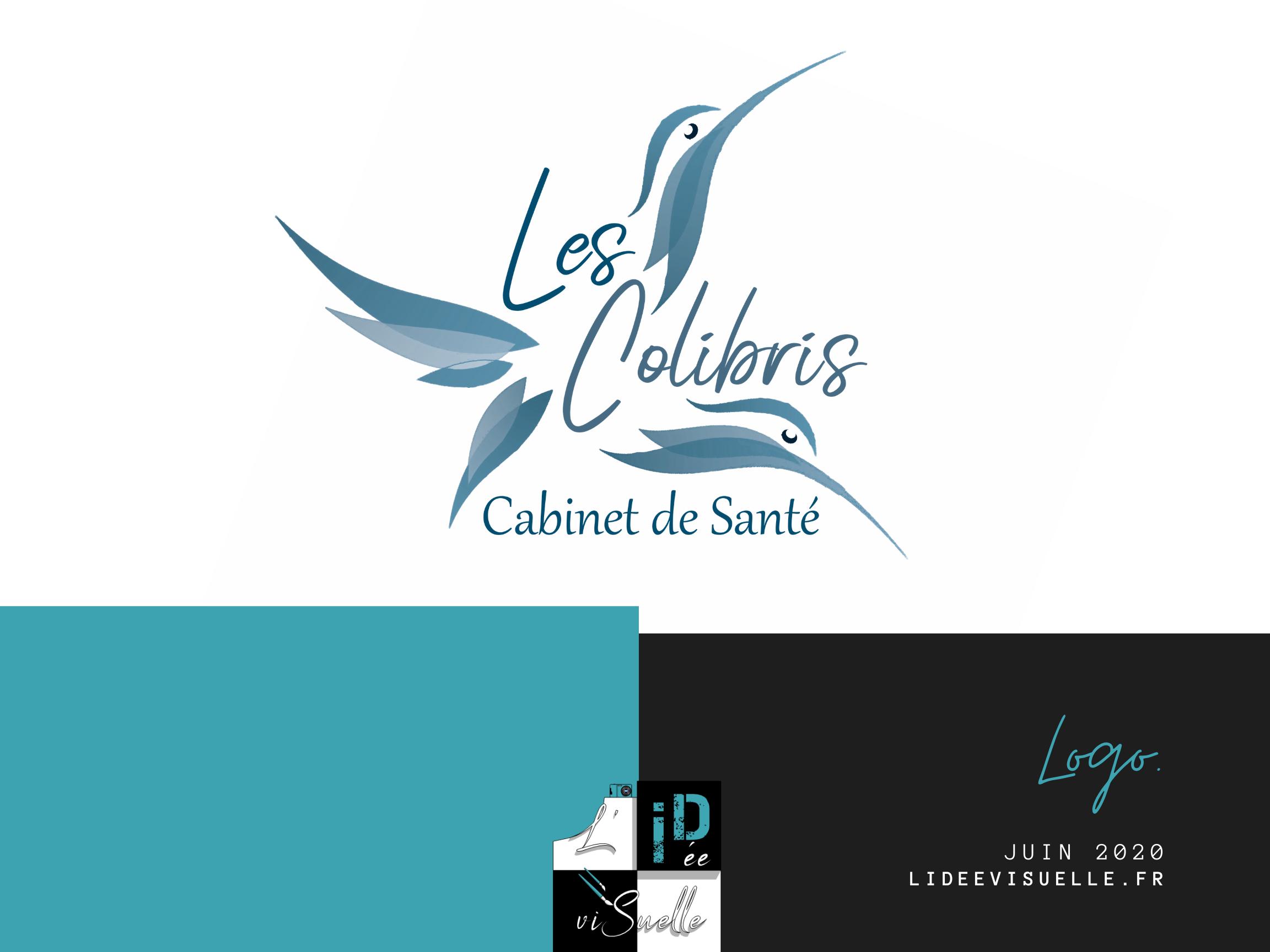 Logo Les Colibris , création de logo ouest lyonnais, rhône, monts du lyonnais, graphiste